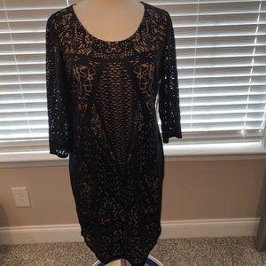 Jessica Simpson Maternity black dress L NWT
